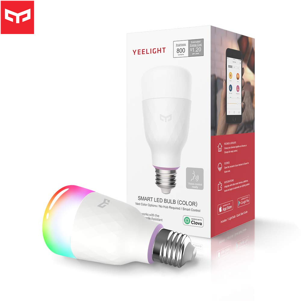 Newest English Version Xiaomi Yeelight Lemon Blue II RGB LED Lights Smart Bulb (Color) E27 10W 800 Lumens Mi App Control
