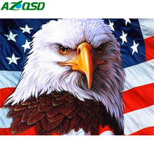 AZQSD Diamond Embroidery Animal Needlework Painting Eagle Mosaic Picture Of Rhinestones Decor For Home