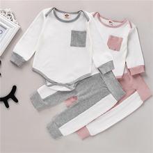 Осенняя одежда для малышей из 2 предметов топ с круглым вырезом