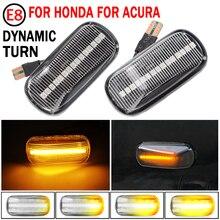 2pcs דינמי צד סמן זורם אורות רכב סטיילינג LED צד חיווי הפעל אות אור עבור הונדה זרם 2002 2004