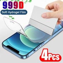 4PCS Full Cover Hydrogel Film Screen Protector For iPhone 7 8 6 6s Plus Screen Protector On iPhone X XR XS MAX 11 Pro Max 12 Min