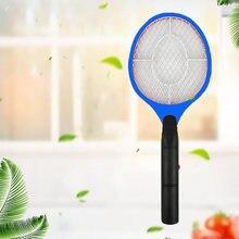 Трехслойная безопасная Электрическая мухобойка ракетка для удаления