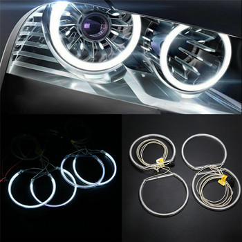 4 Pcs White Angel Eyes Halo Rings Xenon Car Lamp Led Lights Headlights for BMW E36 E39 E46 Cold Cathode Fluorescent Light image