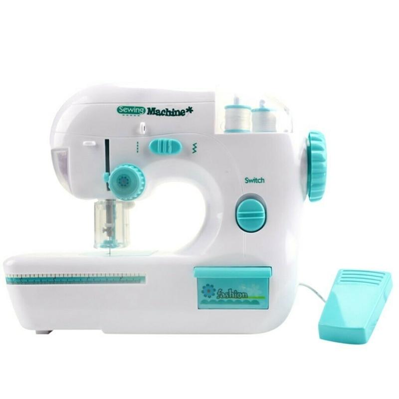 New Desktop Electric Sewing Machine Handheld Automatic Winding Stitch Sew Needlework Household Portable Mini Handheld Kid Gift