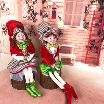 Elfo de talla grande para niños, decoración de jardín de Navidad de...