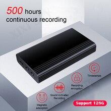 شيشى تجسس 500 ساعة مسجل صوتي الإملاء القلم الصوت الصوت البسيطة المنشط الرقمية المهنية مايكرو فلاش حملة