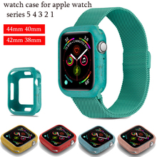цена на Slim watch cases For apple watch 5 4 44mm 40mm colorful Soft case Frame Full Protective Bumper Cover for iWatch 3 2 1 38MM 42MM