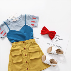 Tonytaobaby Girls Summer New Products Princess Set A- Line Matching Outfit Girls Clothes(China)
