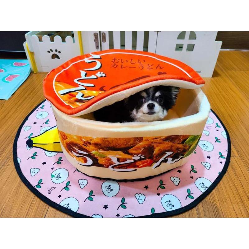 Nouilles instantanées japonaises maison pour animaux de compagnie chenil Ramen chien chat nid lit chenil coussin chaud amovible facile nettoyage fournitures pour animaux de compagnie