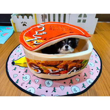 Japanese Instant Noodles Pet House Kennel Ramen Dog Cat Nest Bed Kennel Warm Cushion Removable Easy Cleaning Pet Supplies