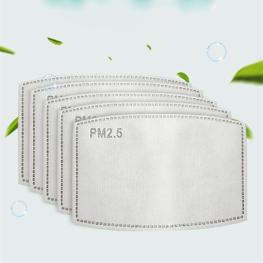10Pcs 20pcs Anti Dust Anti-static PM2.5 Activated Carbon Mask Filter Insert Protective Filter For All Kinds Face Masks