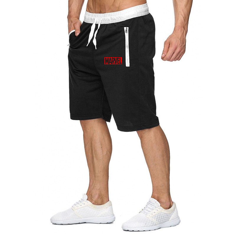 New 2020 Marvel Printed Men's Shorts Men Sports Shorts Brand Male Breathable Running Shorts Mens Casual Shorts Plus Size XXL