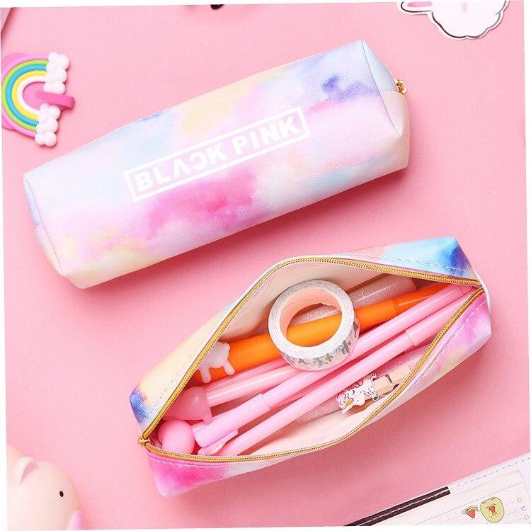 KPOP Star Jin RM Jimin V Suga Jungkook Jhope Blackpink Twice Got7 Colorful Zipper Pen Bag Toy Gift