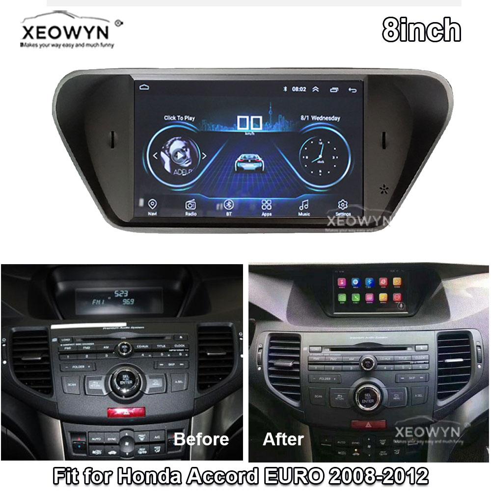 Android 8.1 ROM32GB Quad Core For Honda Accord 8 Corsstour Acura Tsx 2008-2013 Car Radio GPS Navigation Player Radio Multimedia
