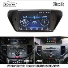 Radio Multimedia con GPS para coche, Radio con reproductor de navegador, Android 8,1, ROM 32gb, cuatro núcleos, para honda Accord 8, corsstour, acura tsx, 2007 2012