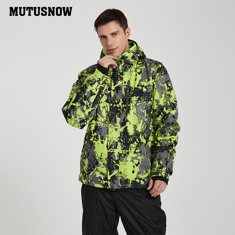 Ski Jacket Men New Windproof Waterproof Breathable Thicken Snow Coat Male Winter Wear -30 Degree Snowboard Ski Jackets Brands