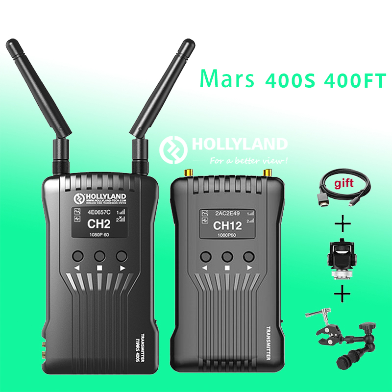 Hollyland Mars 400s Wireless Video Transmission System HDImage Transmitter Receiver HDMI/SDI 1080P for Video Photography YouTube