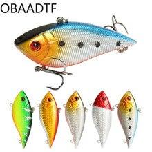Luya bait plastic simulation bait hard bait fake bait VIB vibration 7cm/11.3g bionic pseudo bait fishing supplies swimbait недорого