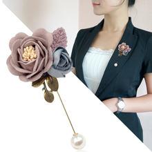 I remiel корейская мода новая брошь из ткани в виде цветка булавка