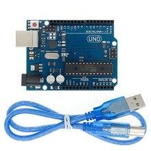 10 компл. UNO R3 для Arduino совместимый MEGA328P ATMEGA16U2 10 шт UNO R3 + 10 шт кабелей