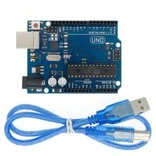 10set UNO R3 for Arduino Compatible MEGA328P ATMEGA16U2 10PCS UNO R3 + 10PCS cables