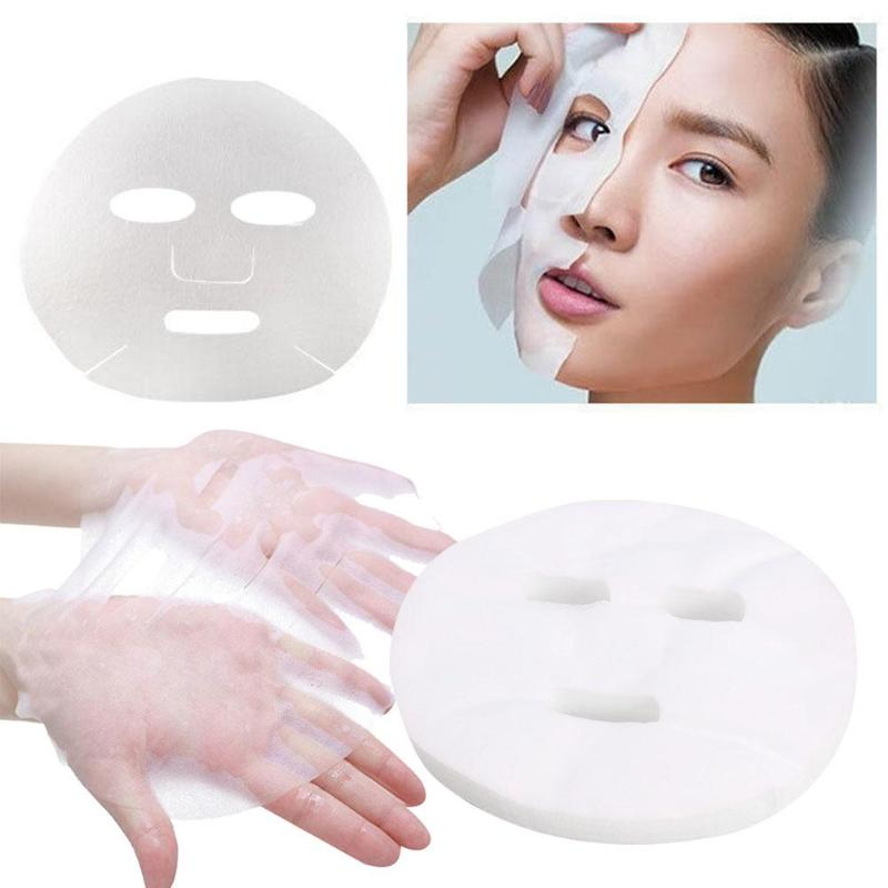 100pcs Disposable Non-compressed Face Masks Cotton Silk DIY Face Mask Paper Facial Skin Care Cleaner Tools Facial Kit For Womens