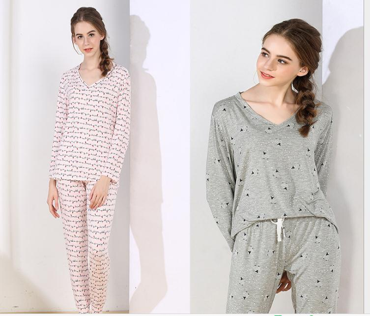 Free Shipping.spring Brand New Women Sleep Pajamas,sleeping Home Clothing,modal Plus Size Sleepingwear,femme Sales Soft