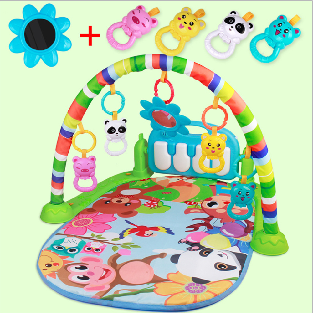Baby Play Mat Kids Rug Educational Puzzle Carpet With Piano Keyboard Light Animal Baby Gym Crawling Activity Mat Toys