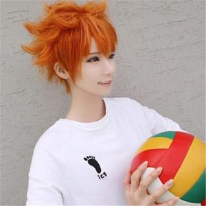 Image 3 - Anime Haikyuu!! Shoyo Hinata Cosplay Wig Short Orange Costume Play Wigs Halloween Party Wigs+wig Cap