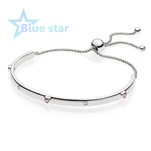 Blue Star 100% 925 Sterling Silver - Explosion of Love Bangle - 596585FPC