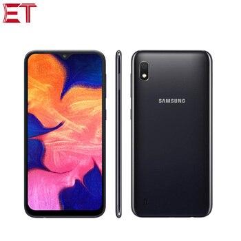 Перейти на Алиэкспресс и купить Samsung Galaxy A10 мобильный телефон с 6,2-дюймовым дисплеем, восьмиядерным процессором, ОЗУ 2 Гб, ПЗУ 32 ГБ, 13 МП, Android 9,0, 2-мя слотами для sim-карт
