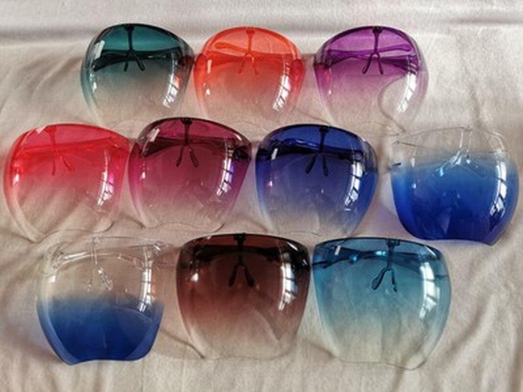 Прямая поставка, 1 шт., модный прозрачный чехол на все лицо, унисекс, большой экран, солнцезащитные очки, пластиковые солнцезащитные очки для ...
