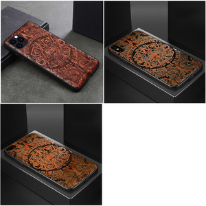 Image 5 - Carved Skull Wood Phone Case For iPhone 7 6 6s 8 plus X XR XS Max iPhone11 iPhone 11 pro Silicon Wooden Case Cover