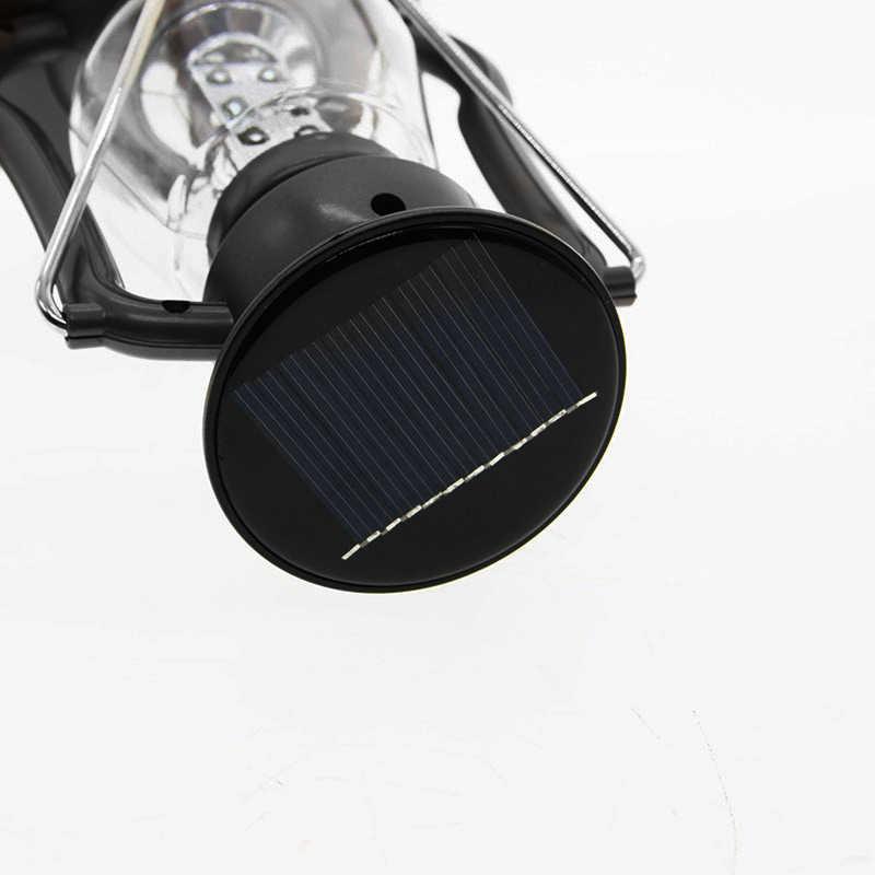Luz de noche portátil Camping Dinamo luz Solar manivela Manual carga emergencia lámpara linterna exterior 16 LED Luz