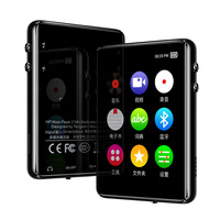 16G MP3 Player Bluetooth 5.0 2.4inch TFT Screen FM E Book Touch Button HiFi Lossless Music Voice reading Dictionary