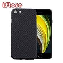 Coque de téléphone en fibre de carbone CF pour Apple iPhone se 2020 4.7 iPhone7 iPhone8 attributs minces et légers matériau en fibre daramide