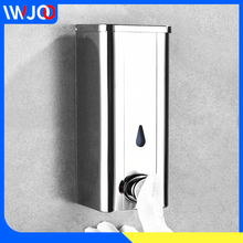 цена на Liquid Soap Dispenser Bottles Stainless Steel Bathroom Shower Gel Shampoo Dispenser Hotel Kitchen Soap Dispenser Wall Mounted