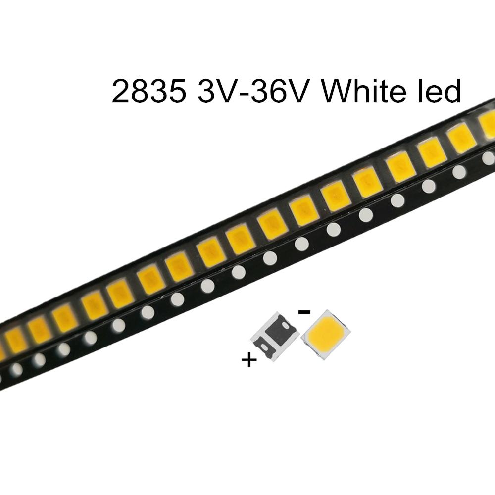 100 шт. SMD СВЕТОДИОДНЫЙ 2835 белый Чип 0,5 Вт 3 в 6 в 9 в 18 в 60-70 лм сверхъяркий SMT 0,5 Вт поверхностное крепление PCB светильник Па