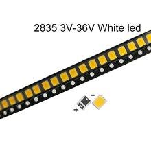 100pcs SMD LED 2835 White Chip 0.5W 3V 6V 9V 18V 60-70LM Ultra Bright SMT 0.5 W Watt Surface Mount PCB LED Light Lamp
