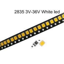 100 sztuk LED SMD 2835 biały układ 0.5 W 3V 6V 9V 18V 60-70LM Ultra jasny SMT 0.5 W Watt montaż powierzchniowy PCB lampa ledowa
