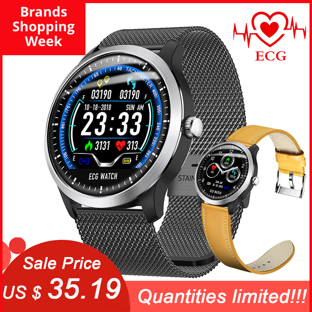 SYSOTORYU Fitness Bracelet Watch Blood-Pressure-Monitor ECG Heart-Rate N58 Sports-Pedometer