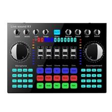 K1 Computer Phone Voice Changer HIFI Live Sound Card Mixer Board Streaming Audio Bluetooth 5.0 Universal