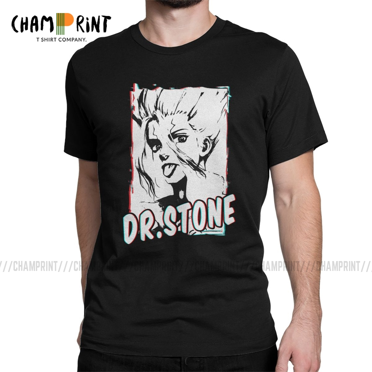 Men's Senku The Doctor T Shirts Dr Stone Anime Japanese Manga Cotton Clothing Casual Short Sleeve Tees Summer T-Shirts