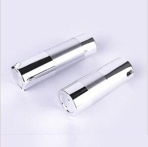 Image 2 - Botella de loción de bomba de vacío sin aire de plata UV de 50 ml con bomba de plata y base inferior utilizada para envase cosmético
