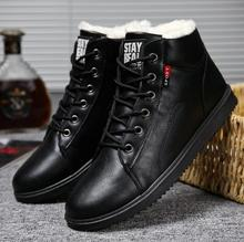 купить warm Ankle boots men winter boots men Rubber work shoes warm fur snow boots men wear-resistant male zapatos de hombre  Rubber по цене 1227.07 рублей