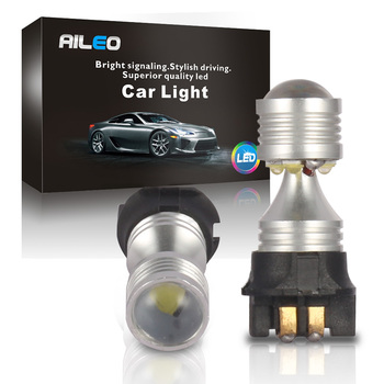 Bombillas LED AILEO de xenón blanco LIBRE DE ERRORES PW24W PWY24W para Audi A3 A4 Q3 Q5 Mercedes Benz W204 GLK Volkswagen-CC DRL amarillo claro