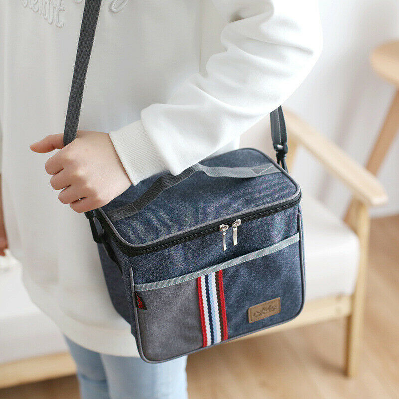 2020 New Style Fashion Large Capacity Insulated Lunch Bag Tote Men Women Travel Picnic Portable Hot Cold Food Thermal Cooler Bag
