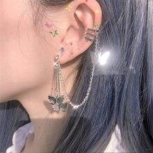 New Butterfly Fairy Exaggeration 2019 Tassel Elegant Cool Unique Silver Dangle Earrings For Women best friend Jewelry Gifts 1PC