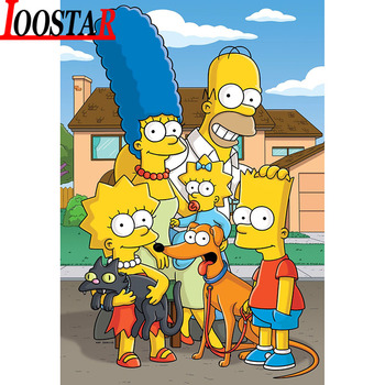 Diamond Painting Simpsons poster for Decor 1