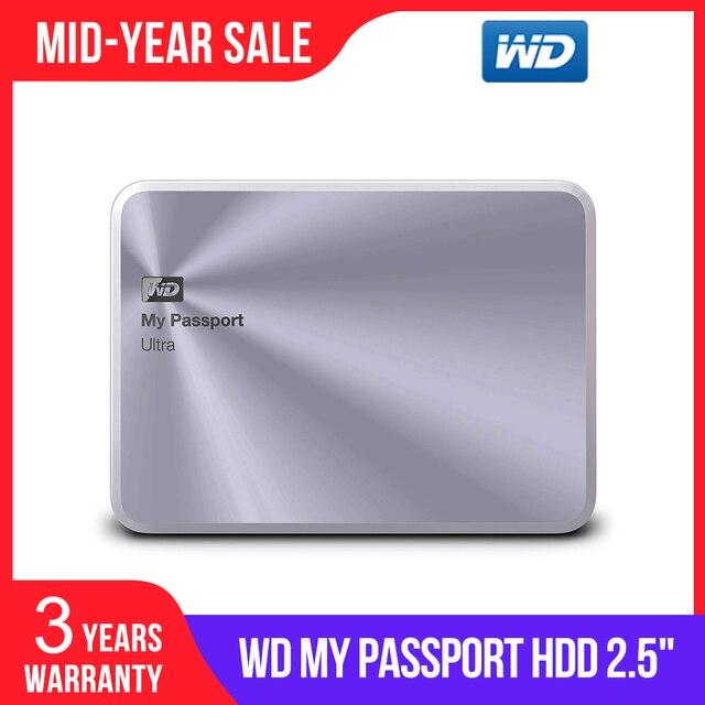 WD 3TB Gümüş My Passport Ultra Metal Baskı Taşınabilir harici sabit disk USB 3.0 WDBEZW0030BSL